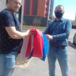 Украшение фасадов домов Флагами России к 9 мая 2020